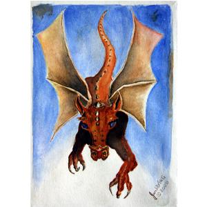 Dragon Blue Eyes by Jan Irving