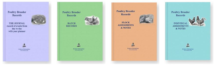 Poultry Record books now available on Amazon